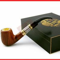 Cheap E Cigarette E-pipe 618 Health Smoking Pipe wooden E pipe dry herb vaporizer e pipe Electronic Cigarette hammer e pipe Imitate Solid Wood Des