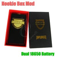 Electronic Cigarette battery contact material - New Nookie Box Mod Dual Battery Mechanical Mod Thread Copper pin Contact SS Brass Material Clone e cigarette nookie vapor mods DHL