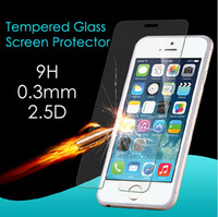 Wholesale iphone s plus D Tempered glass screen protector protectors Explosion proof flim MM D H for iphone S SE S s plus
