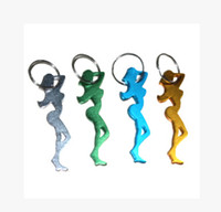 Wholesale 100PCS mixed style aluminium alloy beer wine bottle opener novelty promotion gift key ring