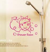 bathroom glass shower doors - ZYVA PVC Waterproof Glass Sliding Door Stickers Shower Room Bathroom Wall Stickers