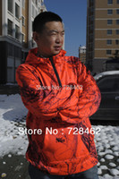 Wholesale 2015 men outdoor hooded set of hunting the European and American design style orange XL yards