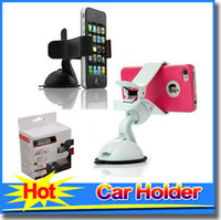 Wholesale Auto Mobile Car Phone Holder Degrees Rotation Car Windshield Sucker Mount Bracket for Mobile Phone GPS PDA Universal Accessories