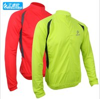Wholesale Arsuxeo Cycling Jacket Long Sleeve Mens Bicycle Bike Sports Outdoor Ridding Anti Sweat Breathable Cycling Jackets