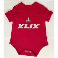 toddler jerseys - Newborn Football Jerseys Super Bowl XLIX American Football Baby Sports Jersey Red Infants Jersey High Quality Cheap Toddlers Rompers
