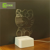 art design lampe - 2015 CNHidee novelty Art Desk Lamp d For Hello Kitty Led book night light Touch Decorative New design crystal lampe Talbe Lamp