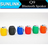 Cheap Q9 Portable Wireless Mini Bluetooth Speaker Bass Stereo Audio HiFi TF Card USB Keychain Hook Outdoor Speakers For iPhone 6 Plus S5 S6