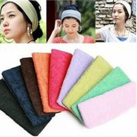 Wholesale 18 CM Candy Color Sports Gym Yoga Slimming Elastic Hair Head Band Yoga Headband Sweatband M1903