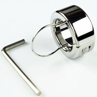 Cheap 300g(10.6oz) Weights Testicle Balls Scrotum Pendant Stainless Steel Ball Stretchers Cock Ring Locking Real Men CBT Sex Product