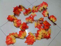 autumn leaves garland - x Artificial Maple Leaf Garland Silk Autumn Fall Leaves Wedding Garden Decor