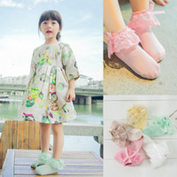Wholesale Hot Selling Girls Lace Ankle Socks Princess Ballet Socks Cotton Dress Sock For Kids Christmas Gift