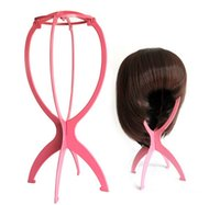 Wholesale new arrival hot x Plastic Stable Folding Wig Hair Hat Cap Durable Stand Holder Displayhot new