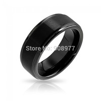 beveled mirrors - 2015 new fashion Black Tungsten Mirror Finished Beveled Wedding Band mm tungsten Wedding rings anel engagement ring