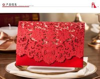 Wholesale 3 Colors New Free Laser Lace flora Wedding Invitations Cards New Arrival Wedding Invitation Favors Personalized Printable Cards MYFW072