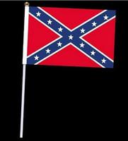 Wholesale drop shipping Rebel Flag Confederate Rebel civil war rebel flag hand signal flag National Polyester Flag Banner Printed Flag cm