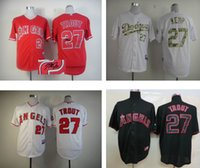Wholesale 2016 Mike Trout White grey red Cool Base Stitched mlb Jerseys Los Angeles Angels of Anaheim Baseball Wear Discount Baseball Jerseys