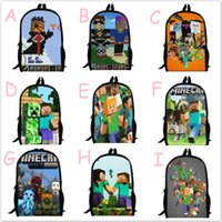 Wholesale minecraft backpacks adult MInecraft Backpack Travel Backpack Children s Christmas presents