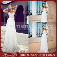 corset bodice wedding dress - Greek Wedding Dresses Julie Vino New Sweetheart Spaghetti Straps A Line Lace Corset Bodice Chiffon Summer Beach Bridal Wedding Gowns
