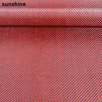 aramid cloth - 3k Carbon Aramid Fiber Hybrid Cloth g m2 Twil Red Carbon Fiber Aramid Fiber Cloth for Car Parts Sport Products