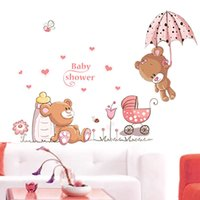 baby nursery wall murals - Teddy Bear Removable Kids Baby Nursery Child Decor Mural Wall Sticker Decal ku1