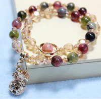 agate elephant - Trial Order Natural Beaded Wrap Bracelet Alloy Package Elephant Charms Bracelets Jewelry