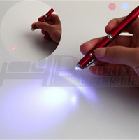 Wholesale 1pcs Accurate in Laser Pointer LED Torch Touch Screen Stylus Ball Pen for iPhone red