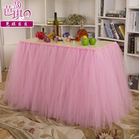 american factory furniture - Pink Tulle Tutu Table Skirting Factory Sale Wedding Decorations Table Cloth For Birthday Party Weddings cm Length