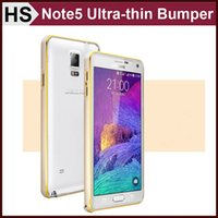 Wholesale Dual Color Aluminum Metal Bumper Case For GALAXY NOTE Note5 Light Ultra Thin Frame Protective Cover DHL