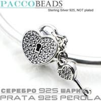 Wholesale Fit Pandora Bracelet Charm Sterling Silver Original Jewelry European DIY Making Beads New For Women PADLOCK PAVE SILVER CHARM Daisy
