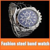 Wholesale Three eye six stitches fashion steel belt men s watch