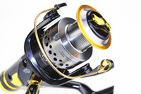 Cheap SUPERIOR METAL SPINNING FISHING REEL 9+1BB Front and geer 10bb powerful Carp reel bait casting reel fly fishing reel