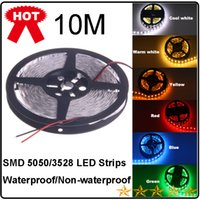 Wholesale 2014 new M Flexible Led Strip Light M Leds V Waterproof SMD Warm Pure Cool White Red Green Blue RGB Non Waterproof Xmas