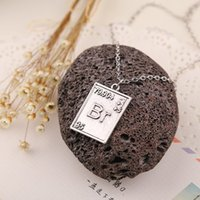 bad sets - 2015 New Fashion Breaking Bad Ba Br Lovers Vintage Pendant Necklace High Quality Sets of Chain Pendant Jewelry ZJ y