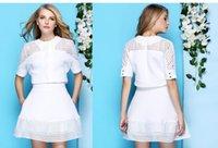 european clothing - New Arrival European Fashion Women Skirt Suits Pure White Cutout Design Tutu Dress Suit Women Clothes