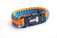 activity kits - 50Pcs Survival Paracord Parachute Bracelet Flint Fire Starter Scraper Whistle Emergency Gear Kits Hiking Camping Safety activities