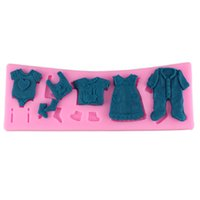 baby clothesline - Baby clothes clothesline silicone fondant cake molds soap chocolate mold for the kitchen baking tool Cake Decorating Tools CT394