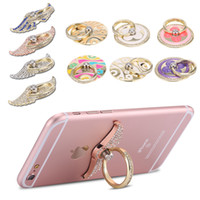 Wholesale Bling Diamond Magnetic Car Cell Phone Case For iPhone Samsung Sony Huawei LG Xiaomi Stand Holder Metal Finger Ring Degrees