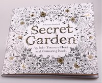 Wholesale Secret Garden Pages English Edition Coloring Book For Children Adult Relieve Stress Kill Time Graffiti Painting Drawing Books DHL FREE