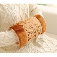 Wholesale New Stylish cm Cotton Velvet Not Need Water Filling Hand Warmer Winter Gloves For Adult Child Winter Essential