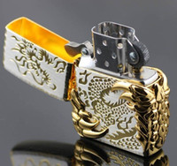 Wholesale 1pcs LIMITED EDITION LIGHTERS GOLDEN THE CHINESE DRAGON