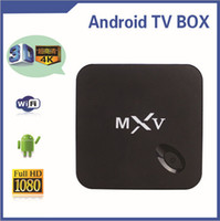 Wholesale MXV Amlogic S805 MX5 Android TV BOX Kodi Quad Core G G Cortex GHZ Android Bluetooth H Smart Media Player