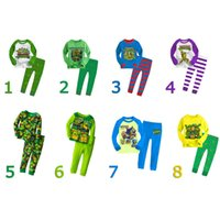Wholesale 2015 kids pajamas Teenage Mutant Ninja Turtles Long Sleeve Cartoon tracksuit Children sleepwear two piece outfits suits set sets