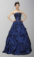 beadwork pictures - Cute Strapless Delicate Beadwork A Line Pretty Collection Of Sweet Quinceanera Dresses Dark Navy Cheap