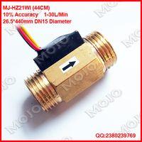 Wholesale MJ HZ21WI Diameter Brass turbine flow meter manufa Male thread Hall liquid level sensor water flow sensor