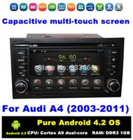audi a4 - Pure Android HD din inch Car DVD GPS for Audi A4 With G WIFI Bluetooth IPOD TV Radio RDS AUX IN Can bus
