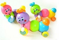 Wholesale New Kid Baby Movement Plastic Caterpillar Toy Toddler Colorful Safety Wind up Toy