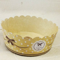 cake bowl - 10 bake baking paper cup cake holder crown cow bow card pack bread Shredded paper tray bowl cup cake baking queen temperature