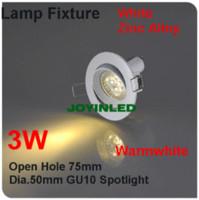 Wholesale white body aluminum led Spotlight fittings kit GU10 MR16 Holders gimbal kit