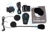 Wholesale Drop Shipping Updated Version m BT Bluetooth Motorcycle Helmet Intercom Interphone Headset b14 SV005298