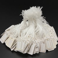 Wholesale 100 Silver Gold String Price Label Paper Blank Pricing Tags Packaging Label Garment Tags